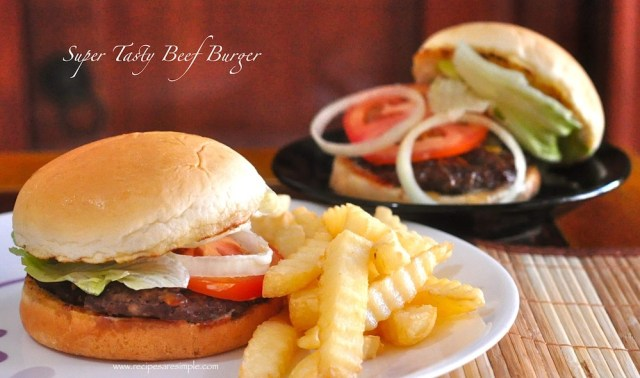 Home made Beef Burger with Smokey Beef Patties in 30 Minutes