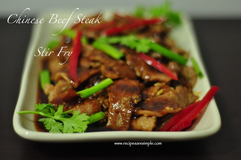 Easy Chinese Beef Steak Stir Fry Recipe - Recipes 'R' Simple