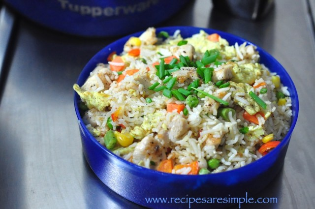 lunch box chicken fried rice recipe