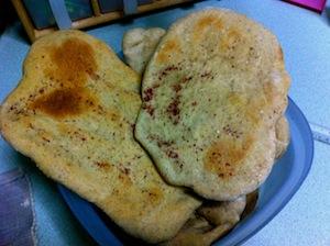 Musakhan - Taboon Bread set aside