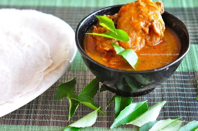 kannur chicken curry with kai pathiri