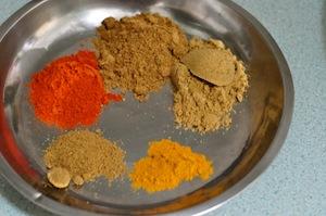 capsicum chicken kadai- spices