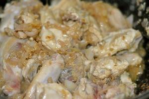 capsicum chicken kadai turns white