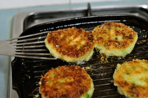 aloo tikki burger - golden and crisped