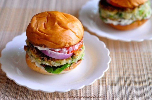 aloo tikki burger potato patties