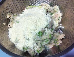 seekh kabab - add bread crumbs