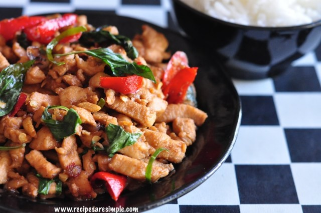 Thai Basil Chicken Recipe authentic