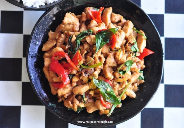 thai basil chicken recipe steps
