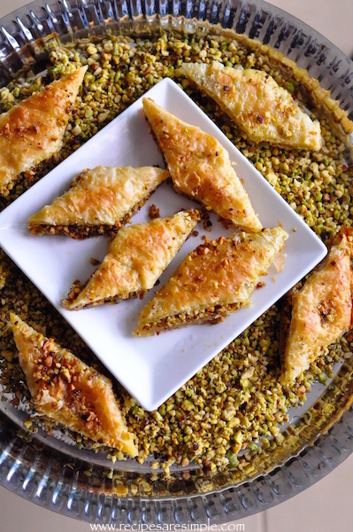 baklava with pistachio and cashew nuts recipe