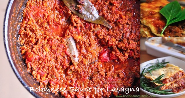 bolognese sauce for lasagna