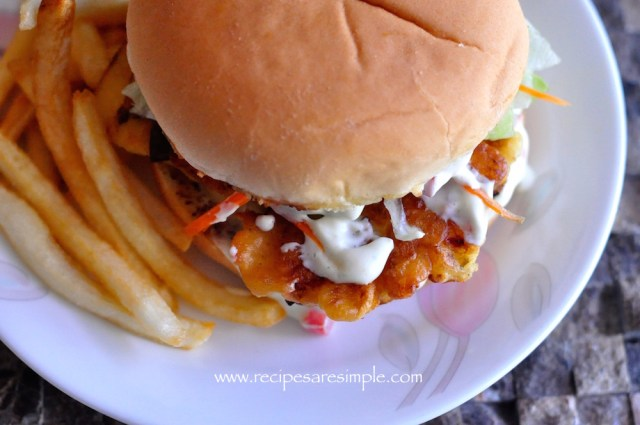 fish burger how to make