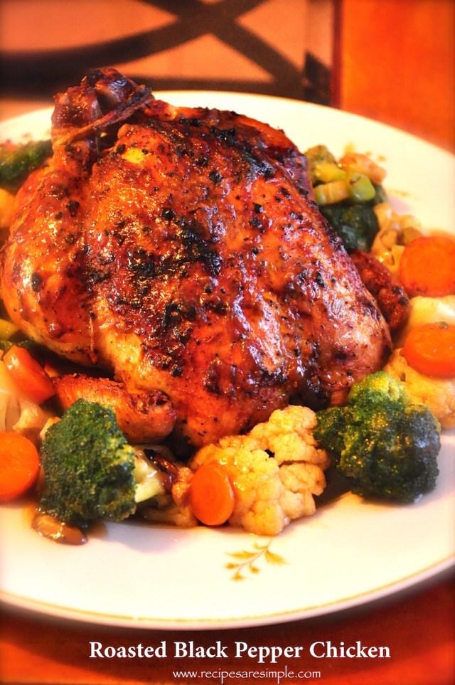 roasted black pepper chicken