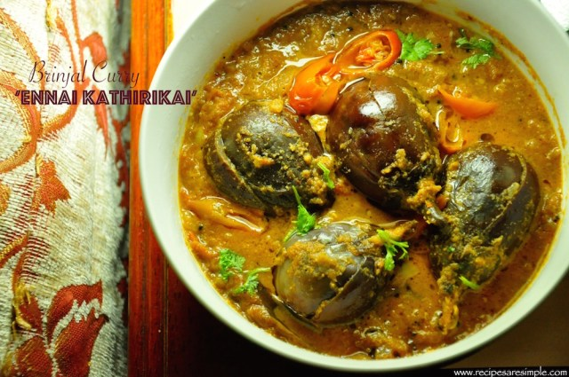 brinjal curry for biryani ennai kathirikairecipes r simple