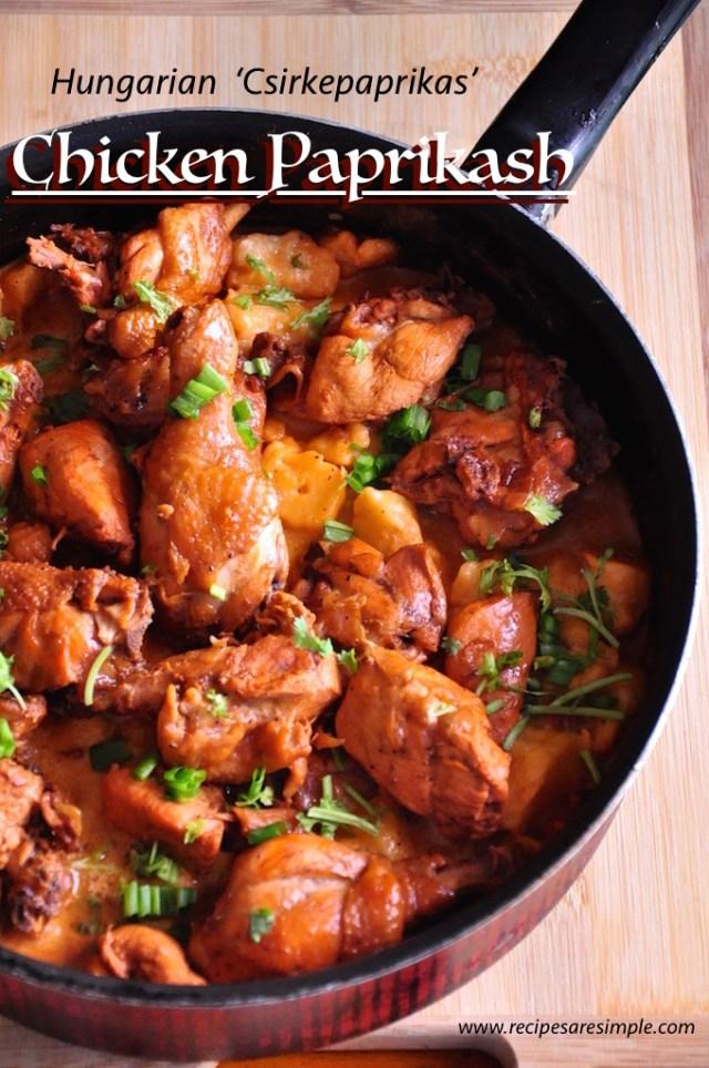 Hungarian Chicken Paprikash - Csirkepaprikas