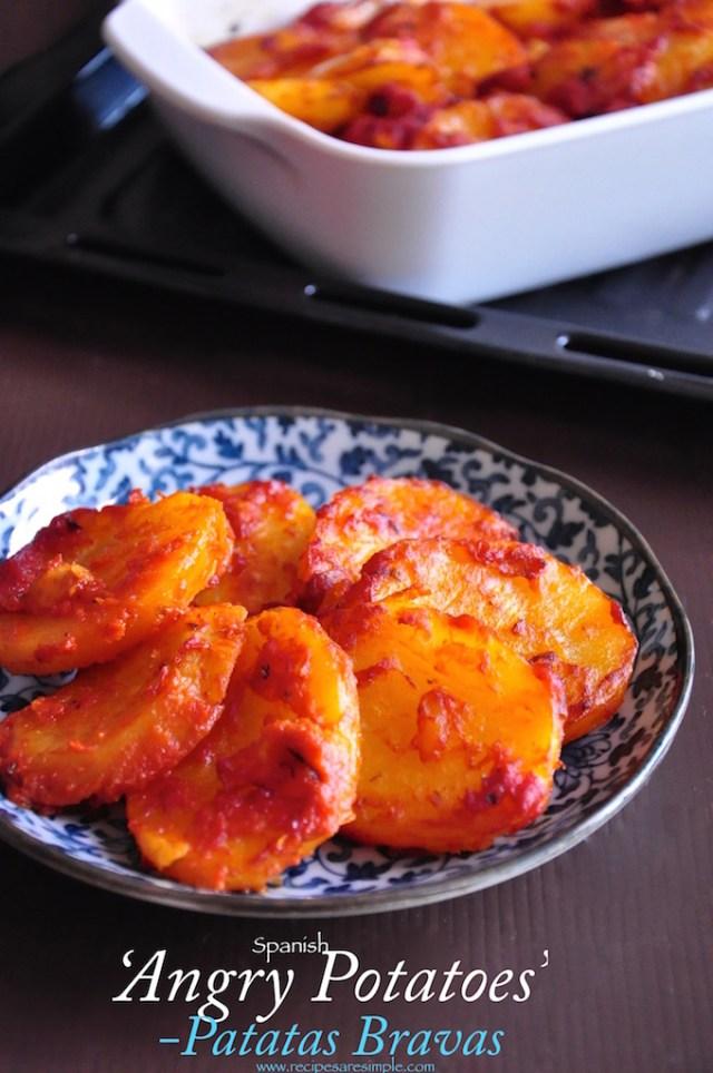 Spanish Potatoes - Angry Potatoes - Patatas Bravas