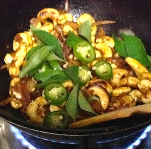 add marinated cashews