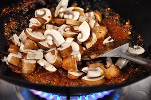kale fried rice add mushrooms