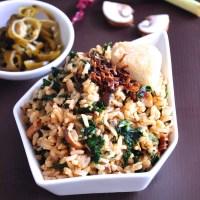 kale fried rice brown rice recipe