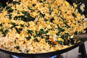 kale fried rice toss