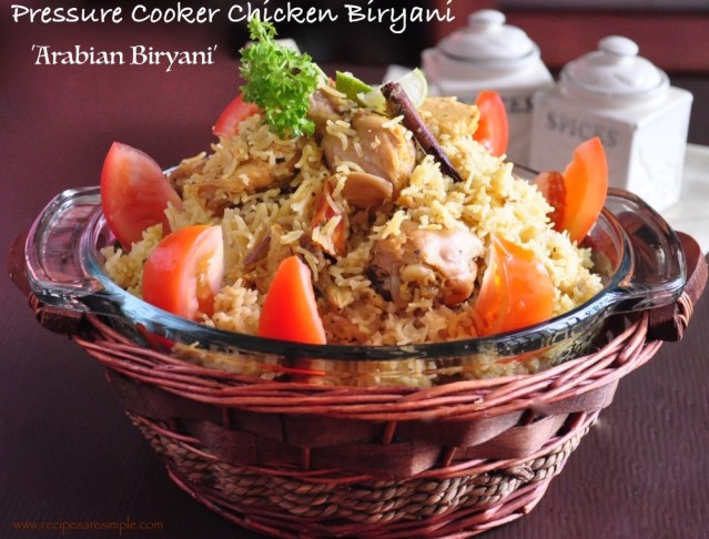 Arabian Biryani made in Pressure Cooker
