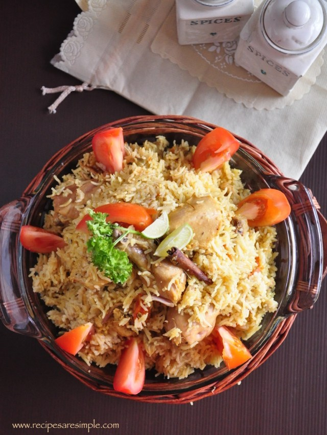 arabian chicken biryani recipe pressure cooker