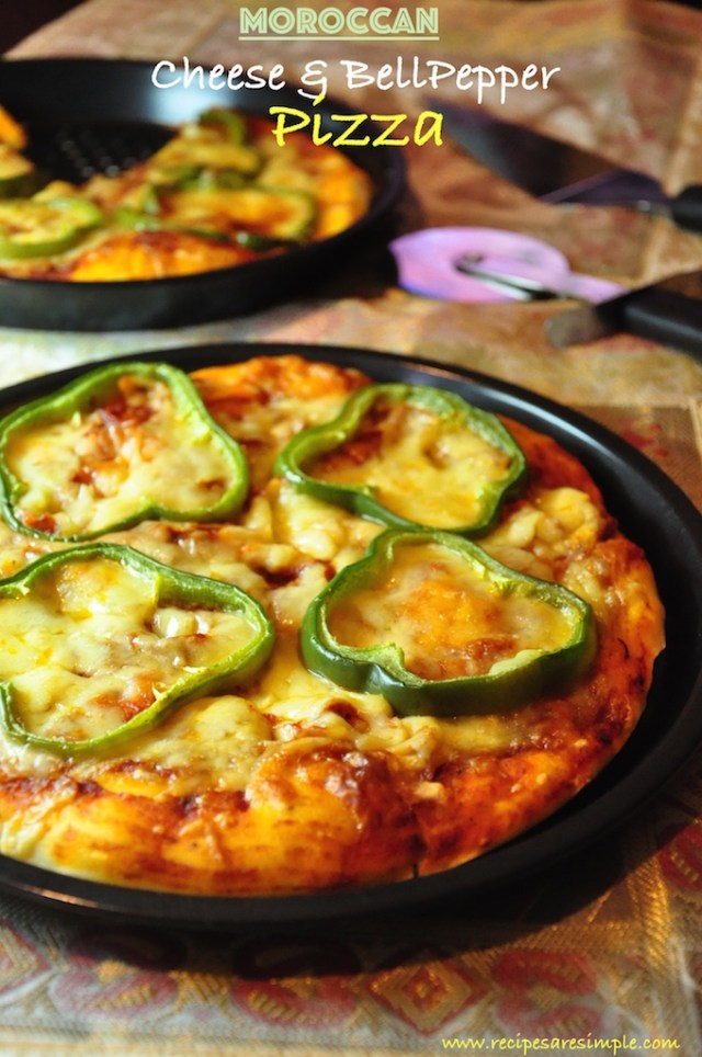 cheese and bell pepper pizza