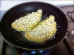 crumbed fish and chips recipe fry on side