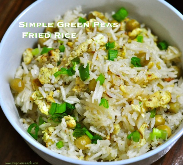 egg fried rice with green peas