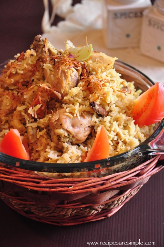 Arabian Biryani in pressure cooker