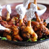 chicken lollipop with gree chilli mayo recipe