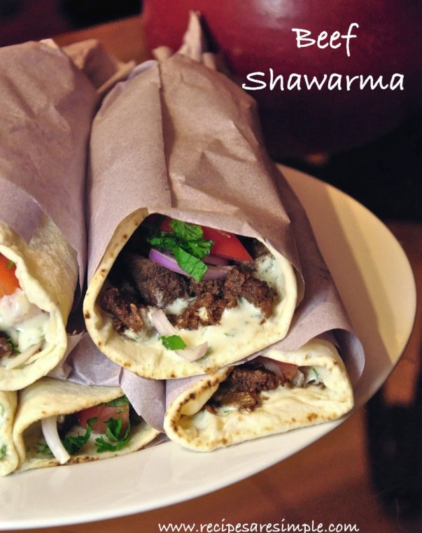Home Made Beef Shawarma Recipe