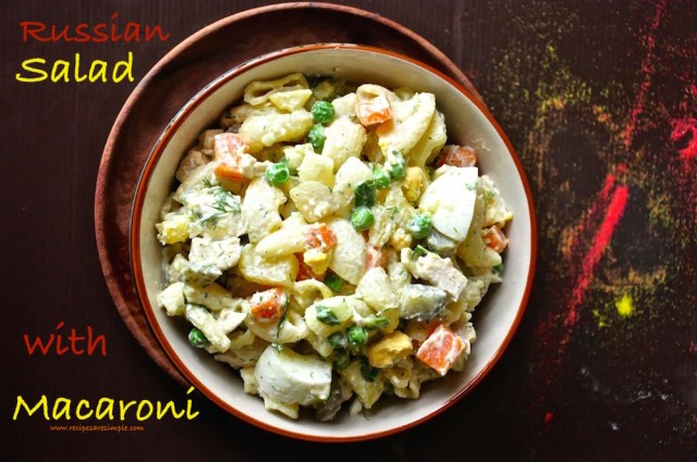 russian salad with macaroni
