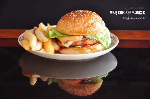Bbq Chicken Burger with Homemade Barbecue Sauce