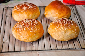 Homemade Burger Buns - baked