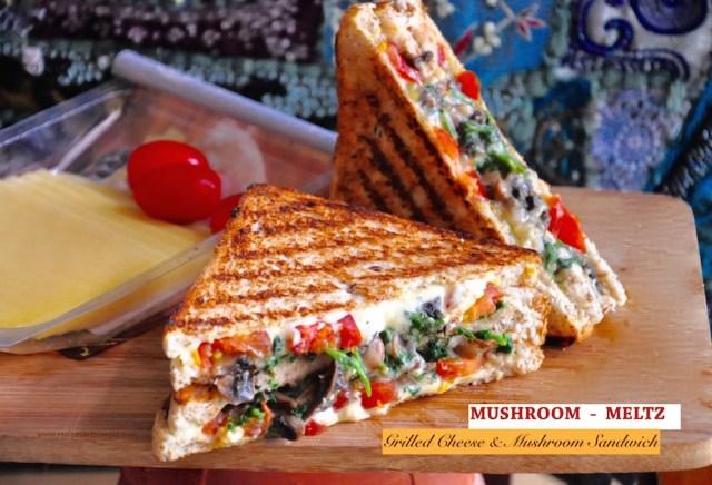 mushroom melts sandwich