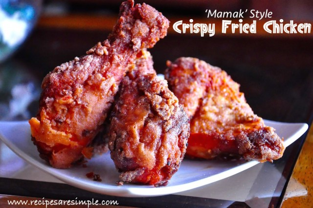 mamak style crispy fried chicken