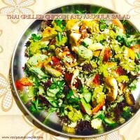 Thai Grilled Chicken and Arugula Salad