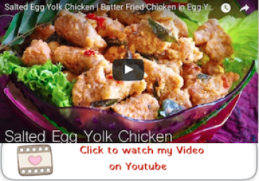 salted egg yolk chicken youtube video