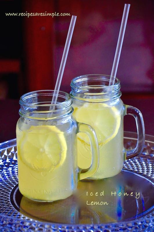 Iced Honey Lemon Drink Hong Kong