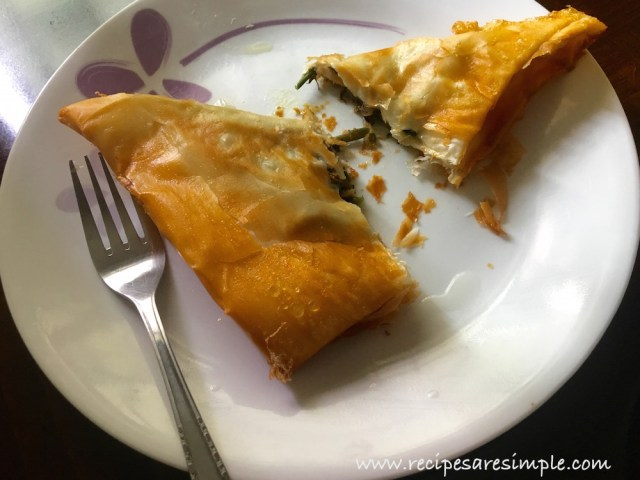 Brik   Delicious Tunisian Pastry cut open