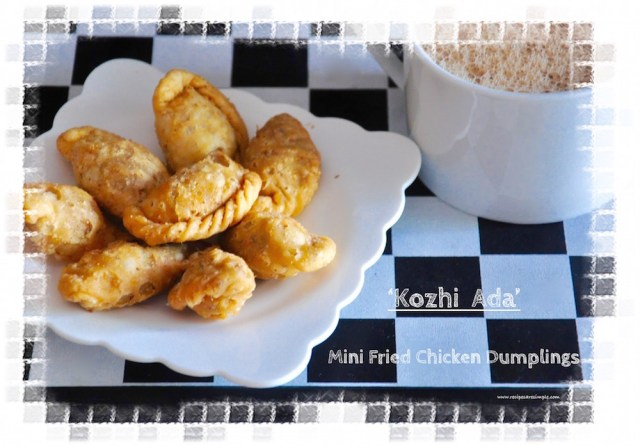 kozhi ada mini fried chicken dumplings