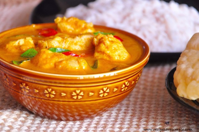 Malabar Fish Curry with Coconut Tamarind and Tomato recipe