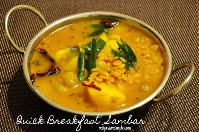 QUICK BREAKFAST SAMBAR