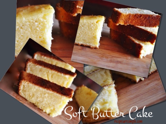 soft butter cake with video