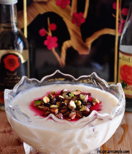 Muhallabia   Light Middle Eastern Milk Pudding   مهليبة  