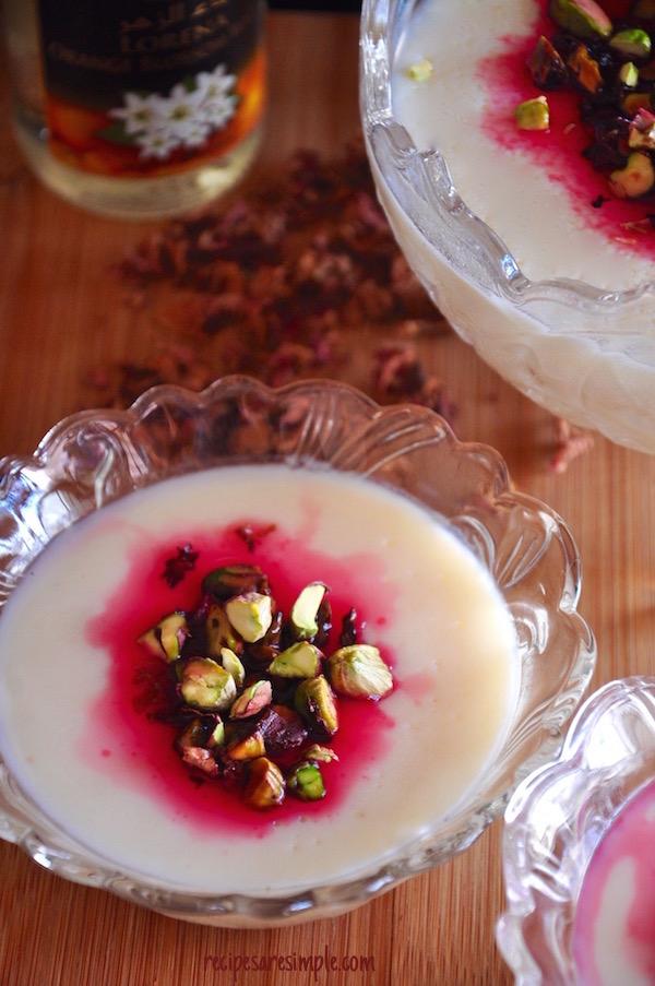 Muhallabia | Light Middle Eastern Milk Pudding recipe