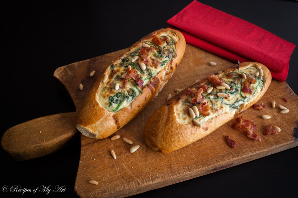 Spinach Ricotta Baguette