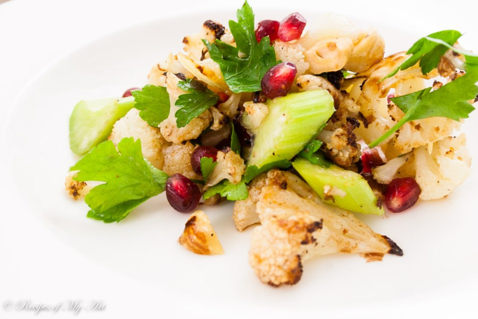 Delicious Roast Cauliflower and Pomegranate Salad-2