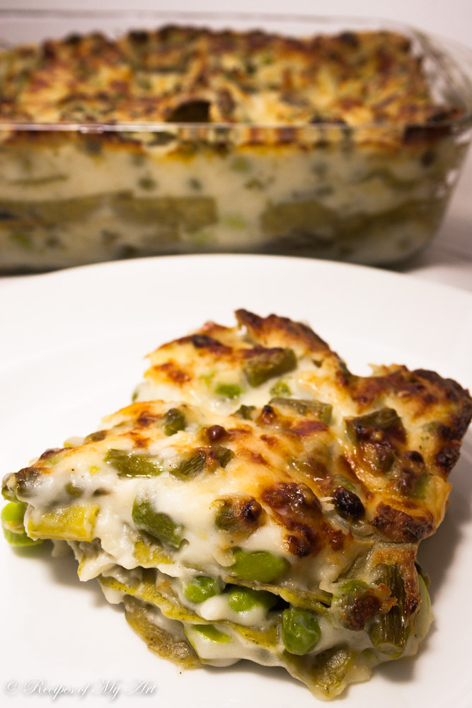 Asparagus and Pea Lasagna-2