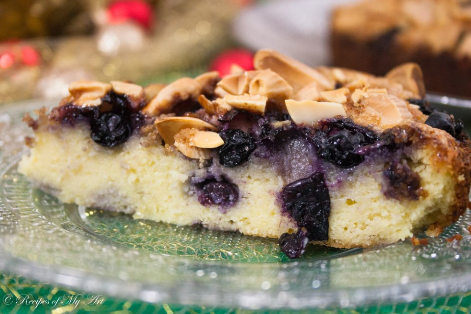 Blueberry Almond and Ricotta Cake